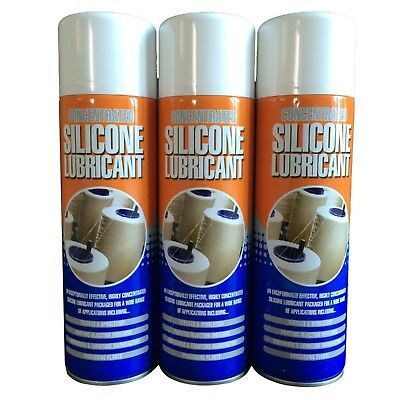 3 x Colourless Silicone Spray Lubricant - Multi Purpose - Water proofing 500ml