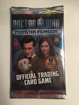 Doctor Who Monster Invasions Trading Card Game Sealed Pack