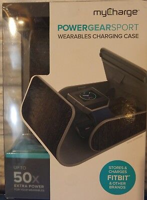 NEW myCharge PowerGear Sport GRAY Wearables Hard Charging Case FitBit & More