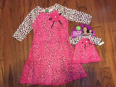 Dollie and Me Girls Dress with Matching Doll Outfit Size 5 NWT