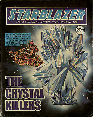 The Crystal Killers,starblazer Space Fiction Adventure In Pictures,no.124,1984