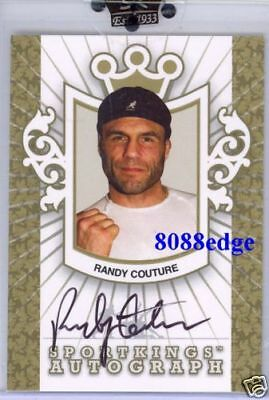 2007 Sport Kings Auto Gold: Randy Couture /10 Autograph Ufc Heavyweight Champion