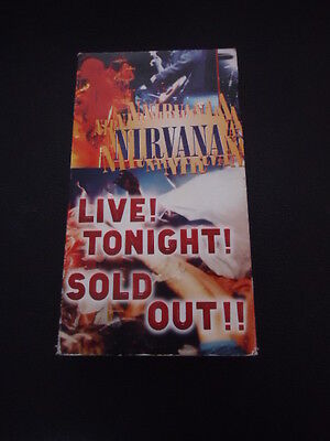 Nirvana: VHS CONCERT TAPE LIVE TONIGHT SOLD OUT