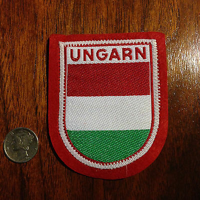 Vintage Ungarn Hungary Hungarian Coat of Arms Flag  Souvenir Travel Patch