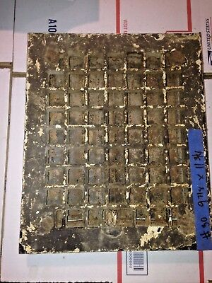 Square Cast Iron wall Floor Register Heat Grate antique vintage  louvered #30