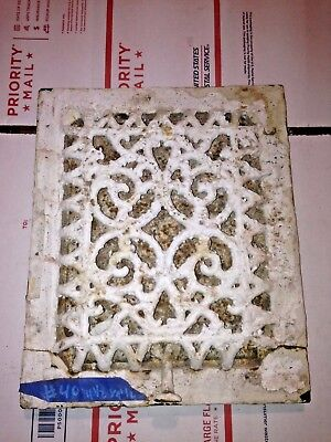 Square Cast Iron wall Floor Register Heat Grate antique vintage  louvered #40