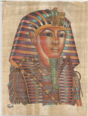 EGYPT PAPYRUS - Hand Painted Papyrus of King Tut Musk Face (19×14)cm
