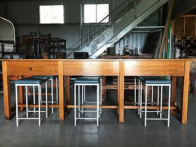 Cafe or home bench style dining table