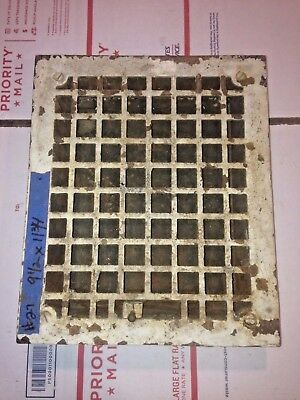 Square Cast Iron wall Floor Register Heat Grate antique vintage  #27