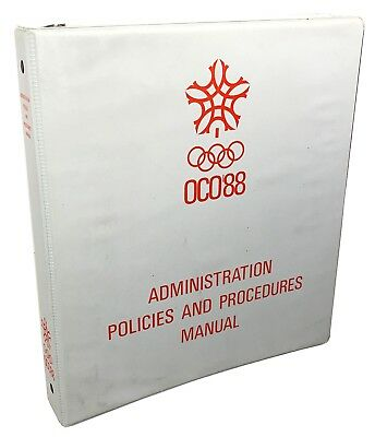 OCO '88 Administration 3-Ring Binder Collectible from 1988 Calgary Olympics