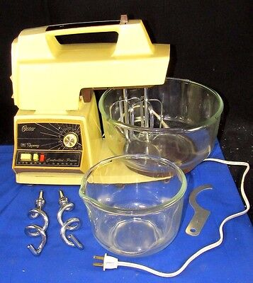 Vintage OSTER REGENCY Kitchen Center 12 Speed Mixer,Small & Large Mixing Bowls