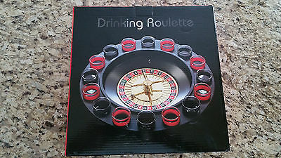 NEW Drinking Roulette Wheel - 16 Shot Glasses Party Game - Casino Bar Accessory