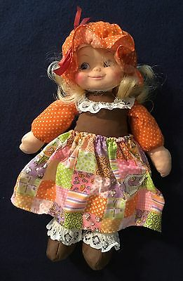 Vintage Horsman Calico Kid 70's Blonde Hair;Calico Fabric Outfit; New But No Box