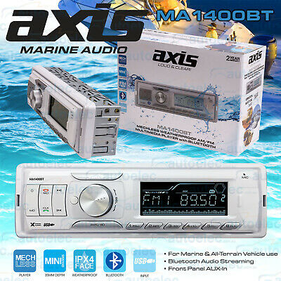 Axis Ma1400Bt Marine Boat Am Fm Radio Multimedia Streaming Mechless Bluetooth