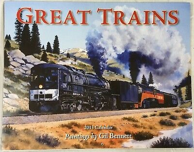 Great Trains 2013 calendar, paintings by Gil Bennett