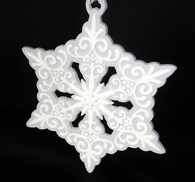 Wedgwood Grey Pierced Snowflake Christmas Ornament Holiday MSRP $36
