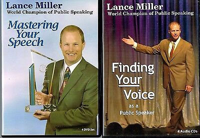 PUBLIC SPEAKING Mastering Your Speech DVDs Finding Your Voice CDs Lance Miller
