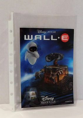 WALL E Disney Movie Club 3D Lenticular Card Collector Rare