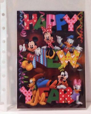 HAPPY NEW YEAR Disney Movie Club 3D Lenticular Card RARE Collector