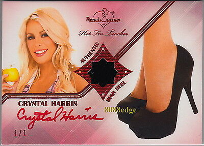 2012 Hot For Teacher High Heel Auto: Crystal Harris #1/1 Of Red Autograph Hefner