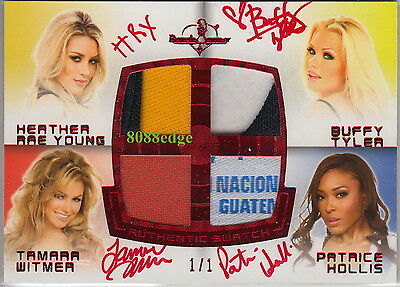 2012 Benchwarmer Swatch Auto:buffy Tyler/tamara Witmer/heather Young/hollis #1/1