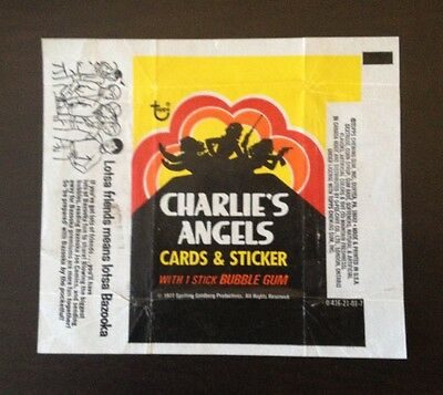 "1977 Topps ""Charlie's Angels - Series 1"" - Wax Pack Wrapper"