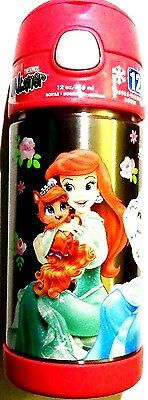 Thermos Disney Princess Ariel Cinderella Rapunzel! Palace Pets! Funtainer Bottle