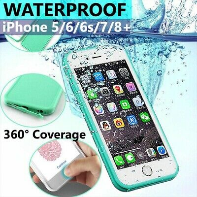 Waterproof Dirt/Shockproof Thin Tough Case Cover For iPhone 8 7 Plus 6S 5S SE