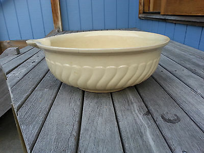 Mixing Bowl Large Stoneware  -  Exc. Condition Antique