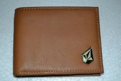 New Volcom Mens genuine leather wallet without Box