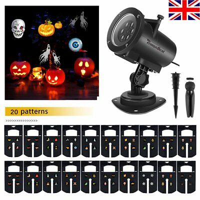 Moving LED Laser Christmas Projector Lamp Landscape Garden Light Xmas Halloween
