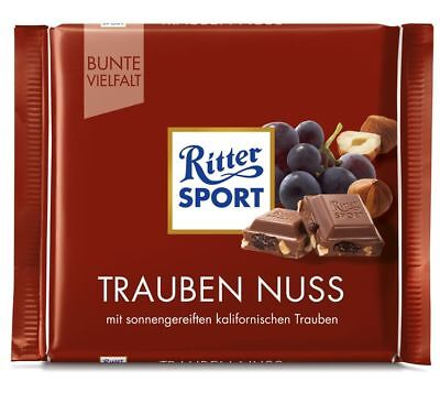 Ritter Sport Grape Nut 500 gr (Pack of 5)