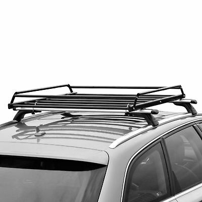 Basic Car Roof tray platform rack carry box luggage carrier basket +  Net Cover