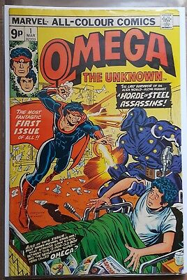 Omega The Unknown # 1 To # 6 ( 6 Issue Run ) Marvel Comics 1976 ( Fn / Fn- )