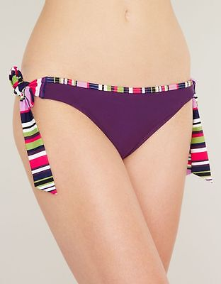 3c0ff2e3a4 JUST PEACHY FIGLEAVES Tequila Purple Haze TIE SIDE BIKINI BRIEF UK 18 BRAND  NEW