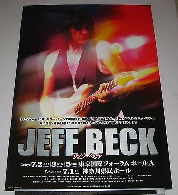 JEFF BECK Japan PROMO ONLY 73 x 51 cm TOUR POSTER official 2005 - more listed