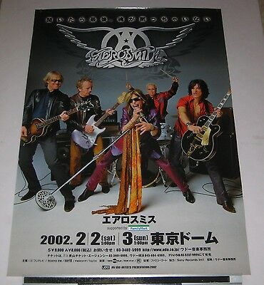 AEROSMITH Japan PROMO ONLY 73 x 51 cm TOUR POSTER official 2002 - more listed