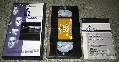 U2 Japan official VIDEO Joshua Tree NTSC with picture sleeve OTHERS AVAILABLE