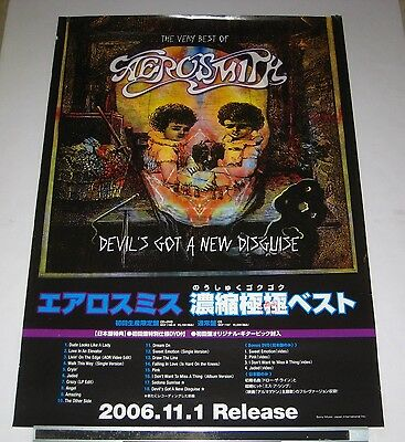 AEROSMITH Japan PROMO ONLY 73 x 51 cm RELEASE POSTER official 2006 - more listed