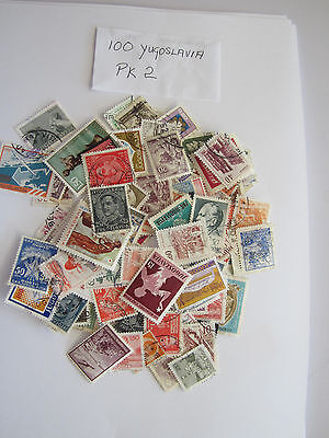 100 Used Postage Stamps From Yugoslavia Pk2 All Different