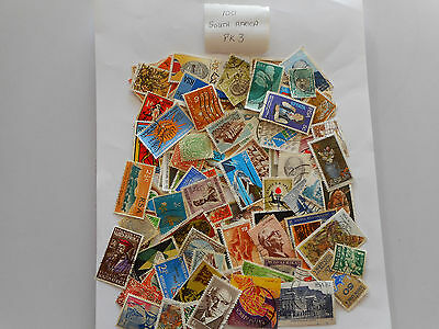 100 used postage stamps SOUTH AFRICA PK3  no doubles