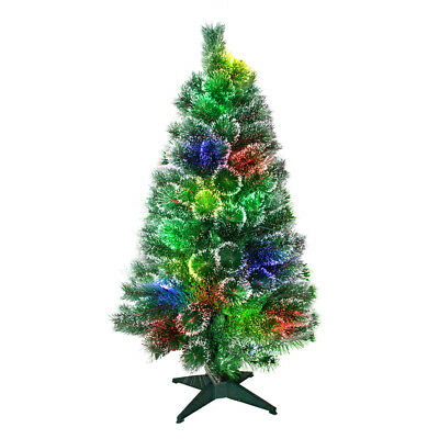 k nstlicher weihnachtsbaum led beleuchtung glasfaser tannenbaum christbaum 120 picclick de. Black Bedroom Furniture Sets. Home Design Ideas