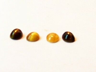 loose 4 stunning tiger eye 7x5 oval cab gem stones carat 3.00 lot of 4 stones