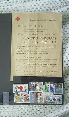 Worldwide Red Cross Stamps + Leaflet