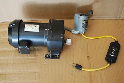 Dayton AC Electric Motor, Split Phase Gear Motor 41 RPM 1/2hp 115V Model 6K375