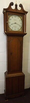 30 Hour Oak Cased Long Case Clock By Charles Cornell 1840-74