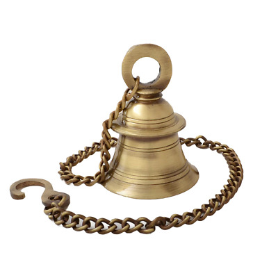 Brass Wall Hanging Bell Antique Look Hindu Temple bell Puja Home Decor Gift Rare