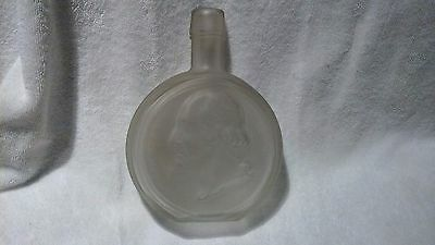 Wheaton George Washington Commemorative Decanter Frosted Clear