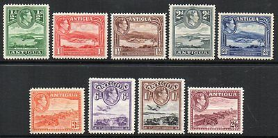Antigua: 1938 KGVI vals to 2/6 (9) ex SG 98-106a mint