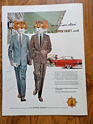 1956 Clipper Craft Suits Ad    Man Alive!     Thunderbird